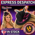 FANCY DRESS GLITTER TOP HAT BLACK WITH PINK